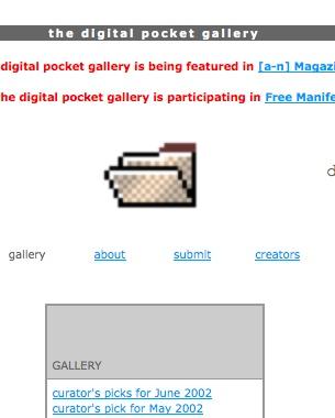 The Digital Pocket Gallery